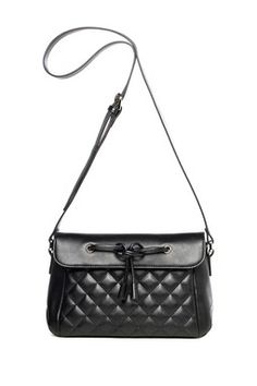 Quilted Genuine Cow Leather Shoulder Bag