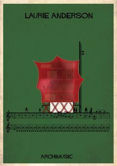 Galeria - ARCHIMUSIC: Ilustrações transformam música em arquitetura - 91