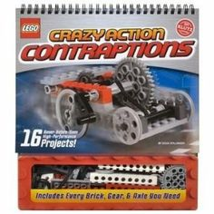 Lego Crazy Action Contraptions Kit by Klutz - kit is for 16 different projects