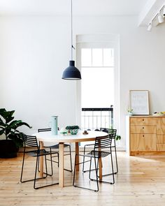 dining table set and pendant combo