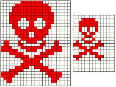 esquema de calavera de crochet