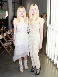 Pin for Later: Our Favorite Stars Should Pluck These Fall '16 Looks Right Off the Runway Dakota and Elle Fanning Wearing Rodarte.