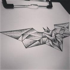 Image result for geometric batman tattoo