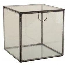 Glasæske, kvadratisk, lille - Ib Laursen 149 kr
