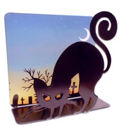 Vintage and Retro Tin Signs - JackandFriends.com - Black Cat 3D  Table Topper Metal Sign 7 x 7 Inches, $22.98 (http://www.jackandfriends.com/black-cat-3d-table-topper-metal-sign-7-x-7-inches/)