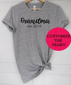 497b4dc7 2018 shirt|new grandma shirt|gift for grandma|mimi tee|Pregnancy reveal| Grandma gift|gigi shirt|nana shirt