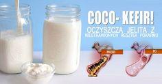 PEŁEN WITAMIN I SKŁADNIKÓW MINERALNYCH COCO- KEFIR! Kefir, Glass Of Milk, Drinks, Health, Food, Autoimmune, Soups, Salads, Drinking