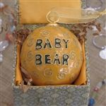 Baylor Bear's first ornament! A wonderful gift for new #Baylor parents.