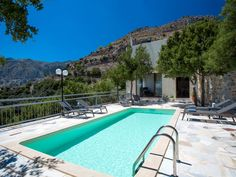 Sfakia villa rental - Villa Somnia is just a short 10 minute drive from daily amenities! Hotel Apartment, Rural Area, Hotel Spa, Stunning View, Private Pool, Luxurious Bedrooms, Mountain View, Beautiful Homes, Swimming Pools