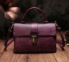 Leather Satchel Vintage Purses Vintage Handbags Brown Shoulder Crossbody Bags
