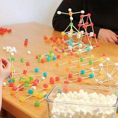 Help Kids Build Some Sweet Math Skills Cool Science Projects, Stem Projects, Art Projects, Science Activities, Activities For Kids, Art For Kids, Crafts For Kids, Building For Kids, Building Toys