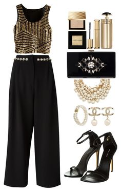 """""""Paris"""" by teryblueberry ❤ liked on Polyvore featuring Kate Spade, C/MEO COLLECTIVE, Dolce&Gabbana, Chanel, Prada, Guerlain, Bobbi Brown Cosmetics, Burberry and Honora"""