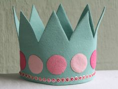 https://flic.kr/p/9GM3wk | Child's crown | Crown to fit child aged 2-8ish. Made from wool blend felt and decorated with beads and sequins.…
