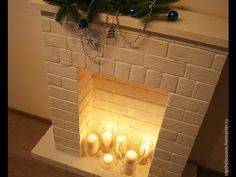 Fireplace Design 2020 – Can you put wood around a gas fireplace? - Home Decor Playhouse Furniture, Cardboard Furniture, Cardboard Crafts, Cardboard Playhouse, Cardboard Fireplace, Diy Fireplace, Fireplace Design, Office Christmas, Diy Christmas