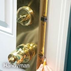 Stop burglars in their tracks by beefing up entry door security with reinforcing hardware. Here's how: