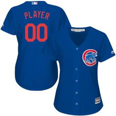 Women s Chicago Cubs Majestic Royal Alternate Cool Base Custom Jersey 0e3dd92a8