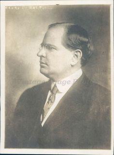 1918 Photo Henry Hatfield Governor WV Politics Leader Clan Senate Original Rare