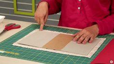 Aula de fundamentos - com fazer  a montagem e o revestimento da capa do caderno.