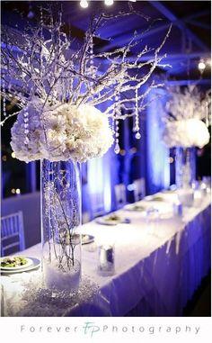 Winter party decoration idea                                                                                                                                                                                 More