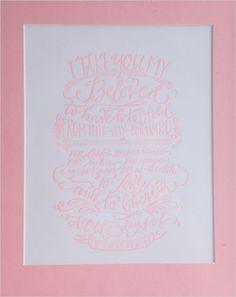 pink wedding card with cute saying #weddingsign #weddingstationery #weddingchicks http://www.weddingchicks.com/2014/04/11/bbq-wedding/