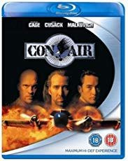 Con Air Nicolas Cage, John Cusack and John Malkovich Directed by: Simon West (Picture: Con Air Blu-ray) Man Movies, Good Movies, Movie List, Movie Tv, Top Movies To Watch, Netflix Dvd, Ving Rhames, Jean Reno, John Malkovich