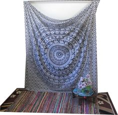 Mandala Tapestry,Hippie Bedding Large Floral Barmeri Tapestry, Coverlet Sheet Wall Hanging Elephant Tapestry by Ababil on Etsy