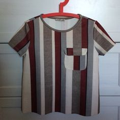 Zara stripe top Love the color combo on this top, sad that it's a tad short on me 😥. Never worn - only tried on.  This is a Zara M - which is closer to S in other brands.  No lowball offer, no trade and no PayPal, thanks! Zara Tops