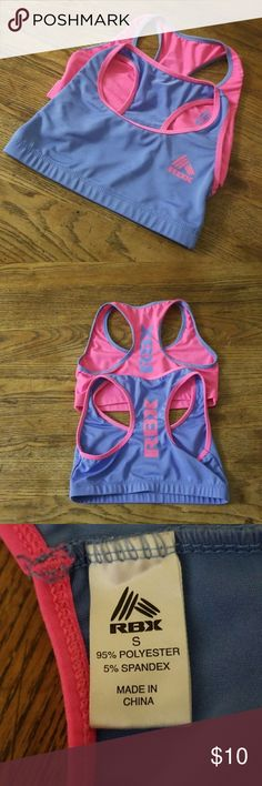 RBX sportbras for Girls Set of (two) one with blue and pink accents.One with pink and blue accents. RBX Other