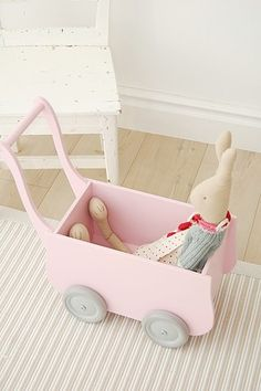 Stroller and bunny in the #kids room! #children #toys