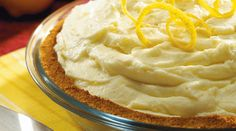 Bite into a slice of heaven with Tre Stelle Lemon Ricotta Pie. It's the perfect way to end a summer meal! #ALoveAffairWithCheese #Pie