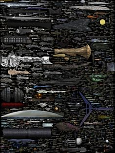 Starship size comparison chart | compiled by Dirk Loechel / imgur: the simple image sharer