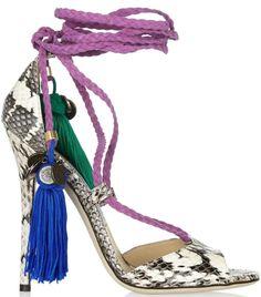 Dream rope-tie elaphe sandals by Jimmy Choo