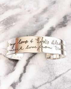It seriously doesn't get more special than this - YOUR handwriting or the handwriting of someone you love, engraved forever on a precious piece of solid sterling silver or solid gold jewellery. www.uberkate.com.au