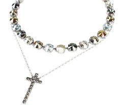 Simple but beautiful; Edition Urban Classic Sabika Manhattan TM Choker with Heritage Cross Necklace contact me 724.454.6937