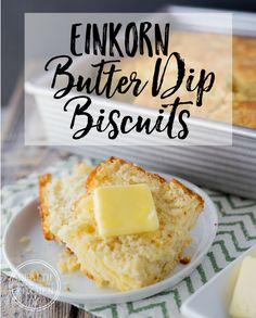 Have you heard of Butter Dip Biscuits? They are super popular but also not so healthy, full of white flour. But don't worry! I've got you covered with my new Einkorn Butter Dip Buttermilk Biscuits Recipe - Equally Delicious only made healthier with Einkorn Flour! http://www.healthstartsinthekitchen.com/recipe/einkorn-butter-dip-buttermilk-biscuits/ #einkorn #einkornflour