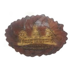 """#collectible sale Burwood Carved Washington DC Wood Decorative plate  6"""" x  5"""" withing our EBAY store at  http://stores.ebay.com/esquirestore"""