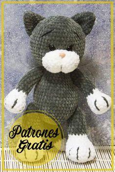 Crochet Animals, Crochet Toys, Knit Crochet, Kitten Meowing, Paper Crafts, Diy Crafts, Chrochet, Cats And Kittens, Crochet Projects