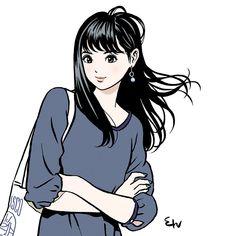 """江口寿史さんのツイート: """"来週月曜日からJR池袋駅にこの子らがいます。… """" Angel Manga, Manga Anime, Manga Art, Pop Art Illustration, Character Illustration, Character Art, Character Design, Art Japonais, Art Drawings Sketches"""