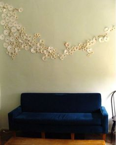 coffee filters as wall art (I'd like it on a canvass rather than the wall but same effect nonetheless)