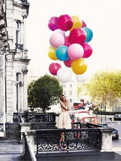 perfect round shaped balloons and perfect color combo