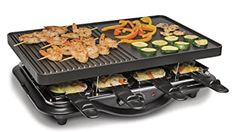 Hamilton Beach 8-Serving Raclette Electric Indoor Grill, Ideal for Parties and Family Fun, Black (31612-MX) electric grill#kitchen electronic Kitchen Grill, Cute Kitchen, Small Kitchen Appliances, Kitchen Dining, Kitchen Electronics, Amazon Electronics, Mini Stove, Indoor Grill, Cooking Stores