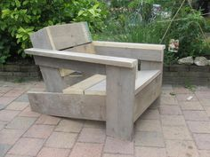 Wooden Bench Ideas Outdoor Stylish and Practical Outdoor Furniture Bench Ideas Wooden Bench Ideas Outdoor. Bench Furniture, Garden Furniture, Outdoor Furniture, Furniture Design, Pallet Chair, Diy Chair, Deck Chairs, Outdoor Chairs, Outdoor Decor