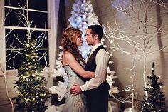 Scheduling a wedding around a holiday can work in your favor: Your reception spot may be decked out — saving you a fortune!  Photo credit - Turner Creative  Let us help you!  DiamondsandPearlsEvents.com