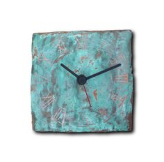 Wall clock made from copper, then patinated. Every clocks are always different. German quality quartz movement inside. Producing time is about 1-2