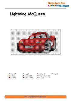Cars Lightning Mcqueen Cars Bugelperlen Vorlage Perler Bead Pattern Perle Bricolage Et Loisirs Creatifs Broderie Et Point De Croix