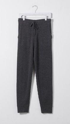 IRO Shawelee Lounge Pant in Dark Grey/Black | The Dreslyn