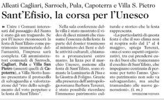 Sant'Efisio, corsa per l'Unesco: Pula alleata con gli altri Comuni per il prestigioso riconoscimento.