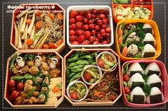 Japanese bento for a family, for a school sports festival.