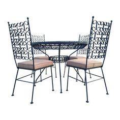 Mid Century Modern Arthur Umanoff Patio Dining Set Table & Chairs Salterini #MidCenturyModern #artherumanoff