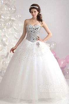 Cocomelody Wedding Dresses Ball Gown CWLF1300A#cocomelody #weddingdress